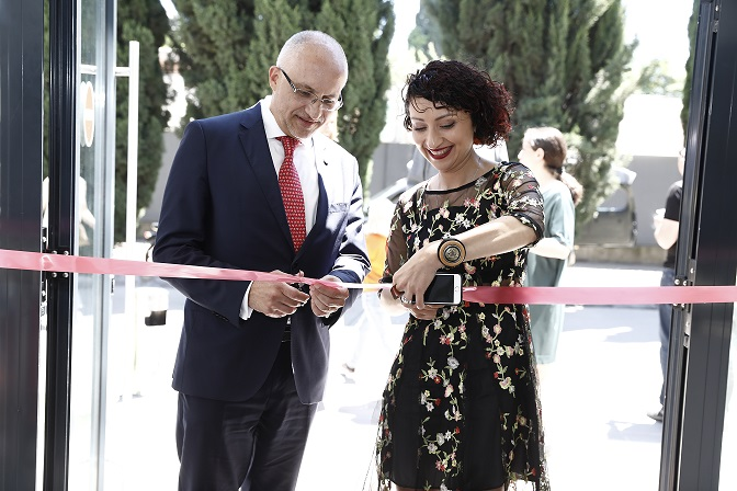 Hugo Setzer and Gvantsa Jobava open Tbilisi International Book Fair 2019
