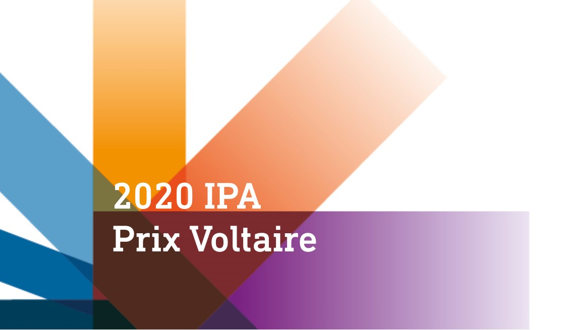 Prix Voltaire 2020 call for nominations graphic