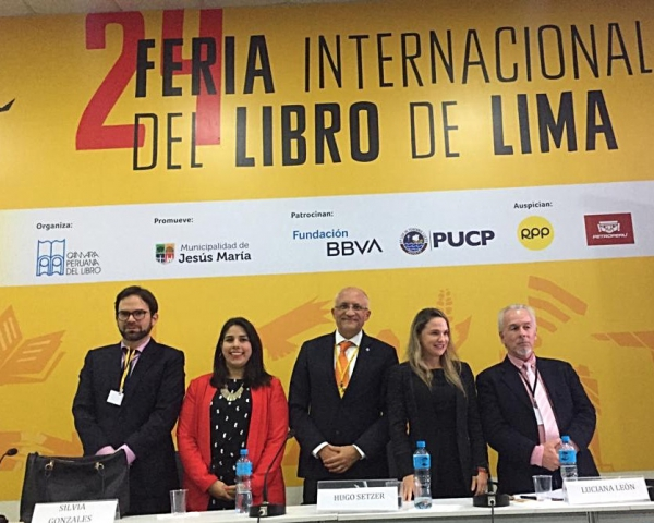 Hugo Setzer at the Public Policy Forum in Lima