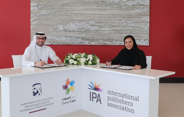 Tariq Al Gurg and Bodour Al Qasimi sign the MoU