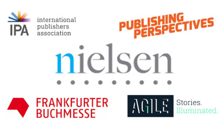 Logo cloud including Nielsen, IPA, Frankfurt Book Fair, Publishing Perspectives and Agile