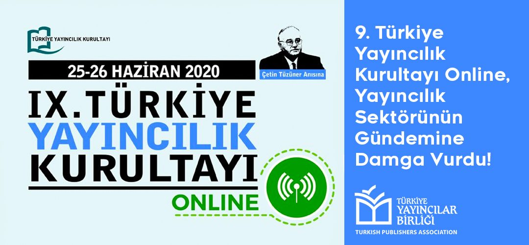 Banner of the 9th Turkish Publishers Assembly