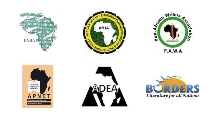 Composite of logos of partners of the SDG Book Club Africa Chapter