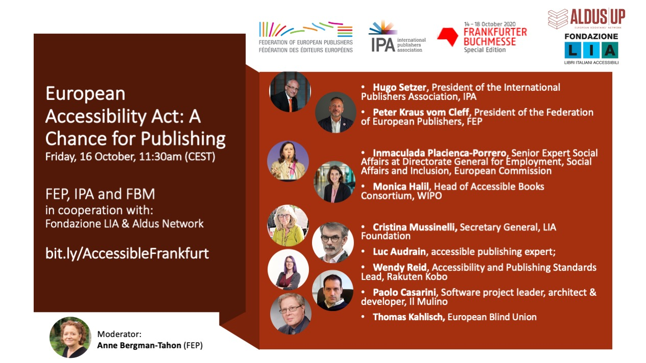 Event Flyer - European Accessibility Act (EAA): a chance for publishers