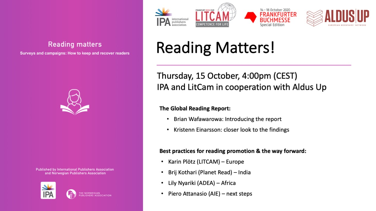 Reading Matters Event Flyer
